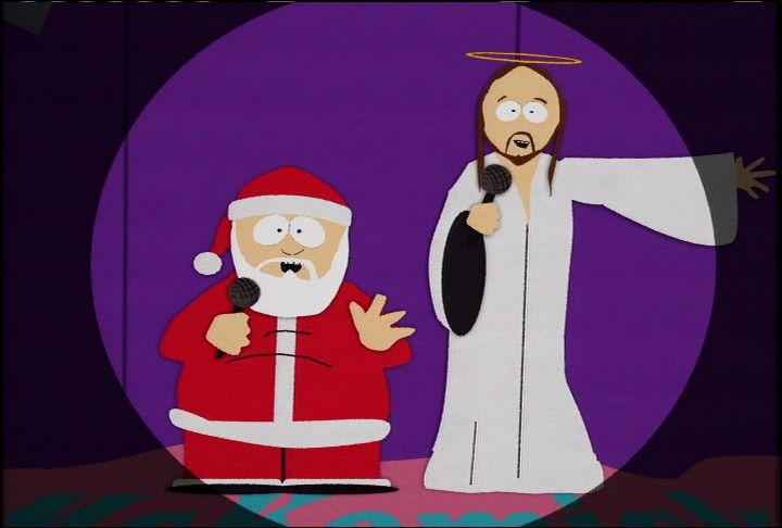 santa and jesus video clip south park studios - Jesus Santa